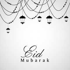 Illustration of elements for the occasion of Eid