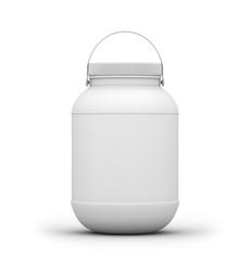 Plastic Jar. 3D rendering
