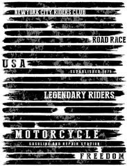 Motorcycle slogans typography tee graphic