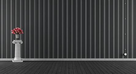 Empty classic black room