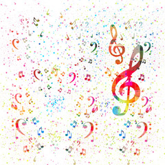 music note background, easy all editable