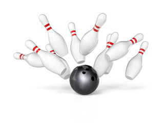 Wall Mural - concept of bowling
