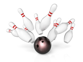 Wall Mural - bowling sport background