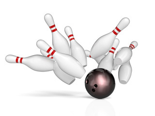 Wall Mural - bowling background concept