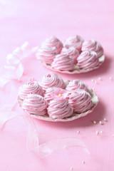 Raspberry Zephyr (Russian Zefir - Marshmallow) on light pink background.