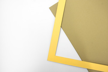 Yellow frame for passepartout