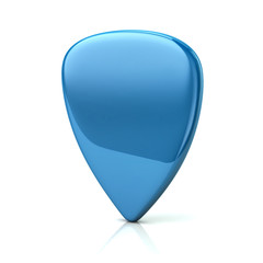Blue guitar pick