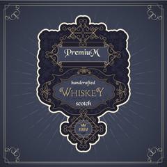 vintage western whiskey label package