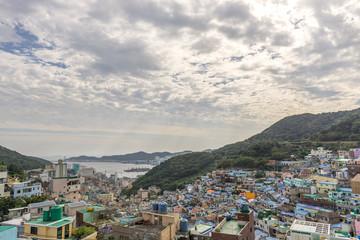 Gamcheon Culture Village in Busan, South Korea.