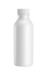 white plastic bottle isolated on white background, 3D rendering