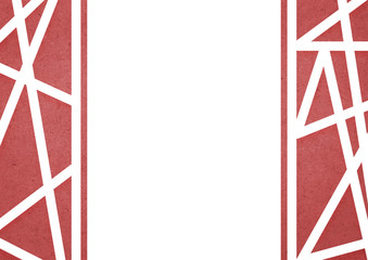red geometric background/wallpaper illustration for  A4 paper size.