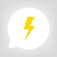 Kreis Sprechblase - Blitz gelb