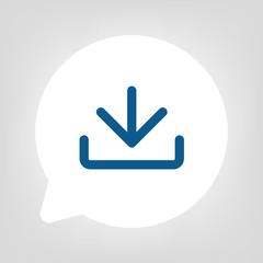 Kreis Sprechblase - Download blau
