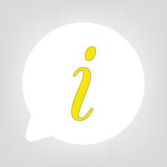 Kreis Sprechblase - Helpdesk gelb