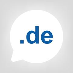 Kreis Sprechblase - de Domain blau