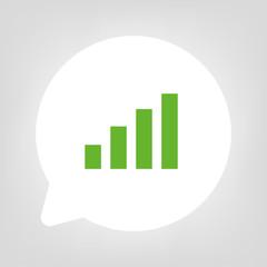 Kreis Sprechblase - Diagramm grün