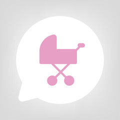 Kreis Sprechblase - Kinderwagen pink