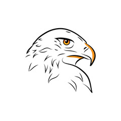 Eagle head outline vector illustration