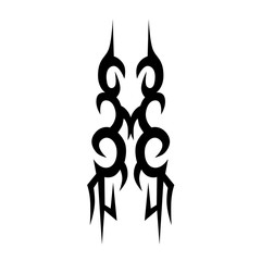 Tribal tattoos. Tattoo tribal vector designs. Art tribal tattoo. Isolated vector sketch of a tattoo. Tattoos ideas. Creative tattoo ornament vector.