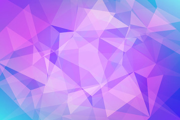 Abstract horizontal triangle background. Tender smooth polygonal backdrop for business presentation. Soft gradient color transition for mobile application and web. Trendy geometric colorful banner.