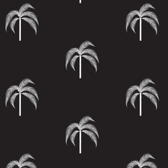 drawing palm trees on a black background
