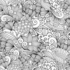 Doodle floral decorative pattern