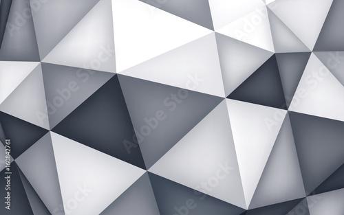 Volume polyhedron background, 3d crystals wallpaper