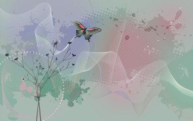 Desktop wallpaper - background with butterfly