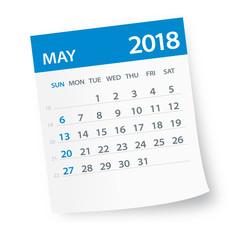 May 2018 Calendar Leaf - Illustration