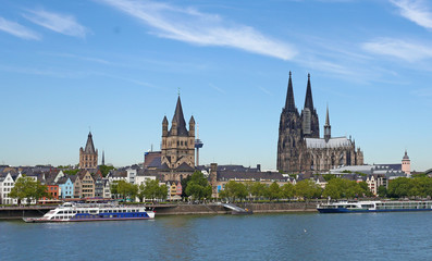 The cathedral in germany with the embankment