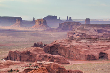 Scenic view of Monument Valley Wall mural