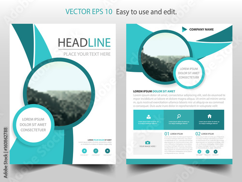 Green circle vector business proposal leaflet brochure flyer green circle vector business proposal leaflet brochure flyer template design book cover layout design maxwellsz