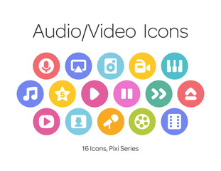 Audio/Video Icons, Pixi Series