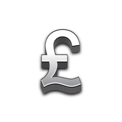 Pound 3d sign illustration isolated.
