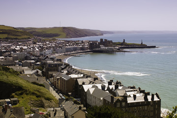 magnificent view on Aberystwyth town
