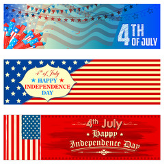 Fourth of July background for Happy Independence Day of America
