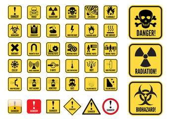 Danger Signs Graphic Set