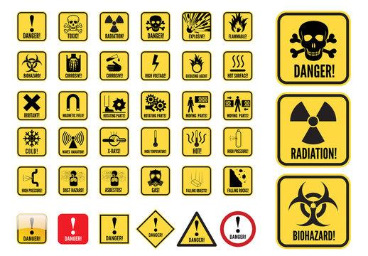 Danger Signs Graphic Set