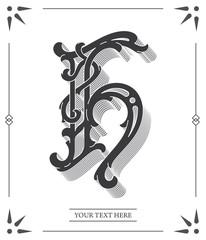 Elegant black on white letter H