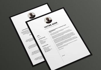Modèle de CV et lettre de motivation- Avec bordure