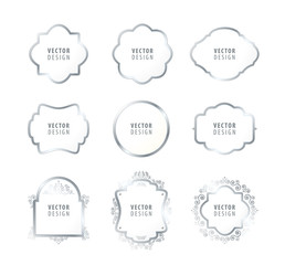 High Quality Luxury Frame on White Background . Vector Isolated Illustration