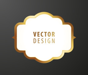 High Quality Luxury Frame on Black Background . Vector Isolated Illustration
