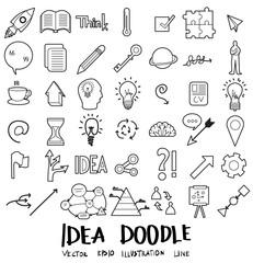 Idea Doodle line icon vector set eps10