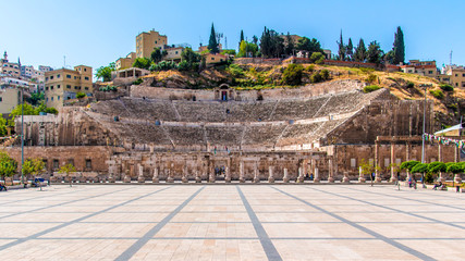 Tuinposter Rudnes The Roman Theater in Amman