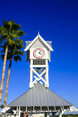 Bridge Street Pier Clock at Bradenton Beach on Anna Maria Island FL, USA
