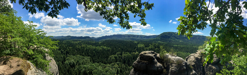 Panorama im Elbsandsteingebirge