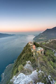 Tignale, Lake Garda, Brescia province, Lombardy, Italy. The Montecastello Sanctuary