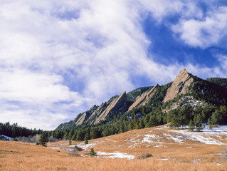 Spring along the Boulder Flatirons at Chautauqua