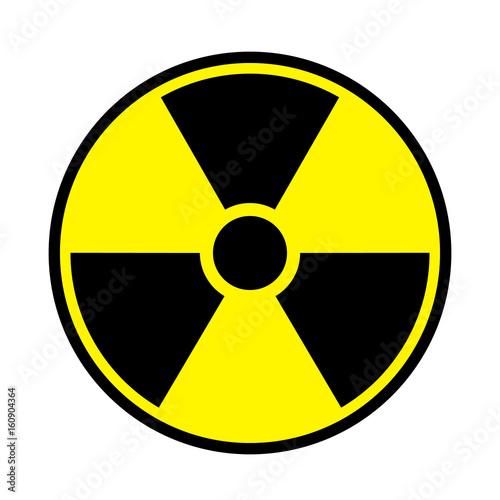 Vector Illustration Toxic Sign Symbol Warning Radioactive Zone In