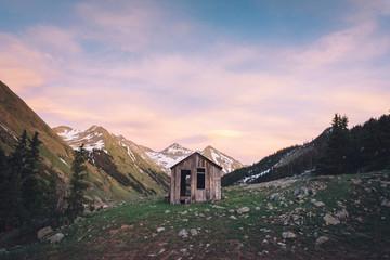 Sunset & Cabin on the Alpine Loop